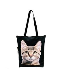 FERA Nákupná taška šedá mačka