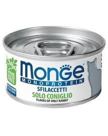 MONGE Cat Monoprotein Králik 80g