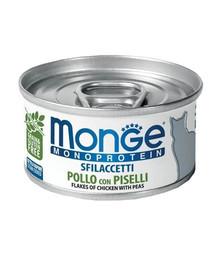 MONGE Cat Monoprotein Kurča a hrášok 80g