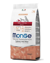 MONGE Mini Losos a ryža 2,5 kg
