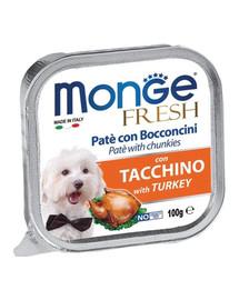 MONGE Dog Fresh paštéta & kúsky s morkou 100 g