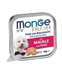 MONGE Dog Fresh Paštéta a kúsky s bravčovým 100g