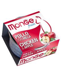 MONGE Fruit Cat Kura a jablko 80 g