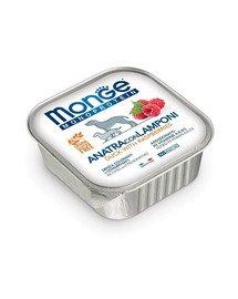 MONGE Fruit Dog Monoprotein Kačica a maliny 150g