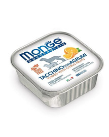 MONGE Fruit Dog Monoprotein Morka a pomaranč 150g