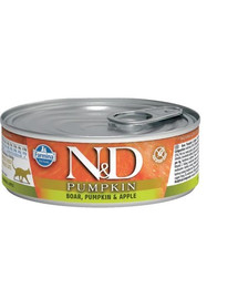 N&D GrainFree Cat PUMPKIN Adult Boar & Apple 80g