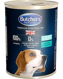 BUTCHER'S Blue+ Light kúsky hovädzieho mäsa so zeleninou v omáčke 400 g 5 + 1 ZADARMO