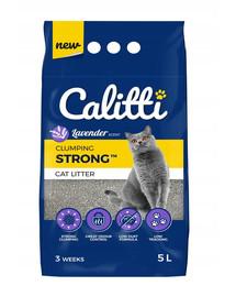 CALITTI Strong Podstielka pre mačky bentonit levanduľová 5 l