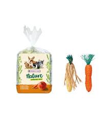 VERSELE LAGA Timothy seno 500 g + sisalová hračka pre králiky a hlodavce
