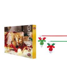 TRIXIE Vianočná sada adventný kalendár + udica s hračkou pre mačku