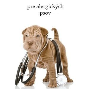 Veterinárne krmivo pre alergických psov