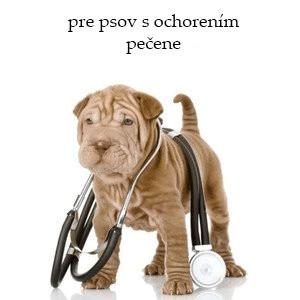 Veterinárne krmivo pre psov s ochorením pečene
