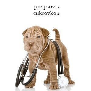 Veterinárne krmivo pre psov s cukrovkou