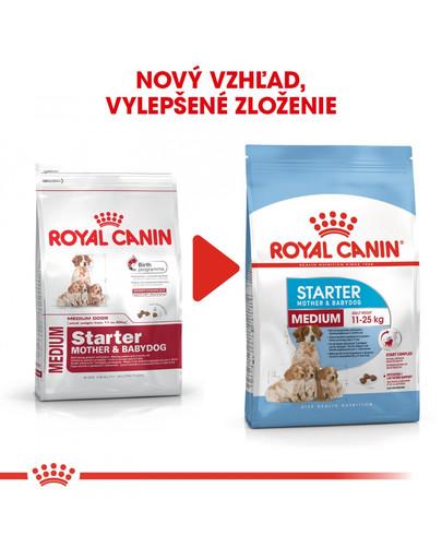 ROYAL CANIN Medium starter mother & babydog 4 kg granule pre brezivé alebo dojčiace suky a šteniatka.