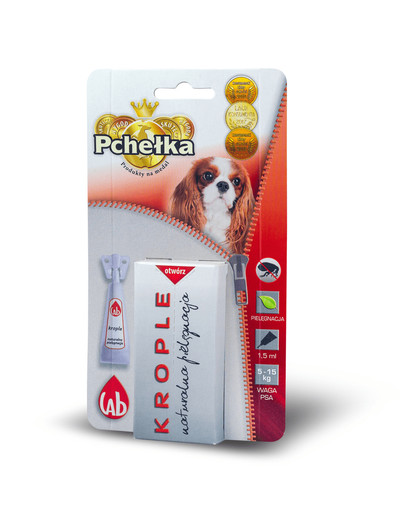 PCHELKA Bio kvapky pre psy 5-15 kg 1.5 ml