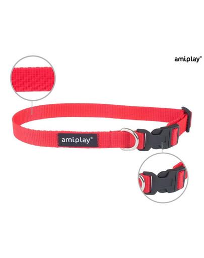 AMIPLAY Obroża taśma basic n 20-35 / 1 cm czerwona
