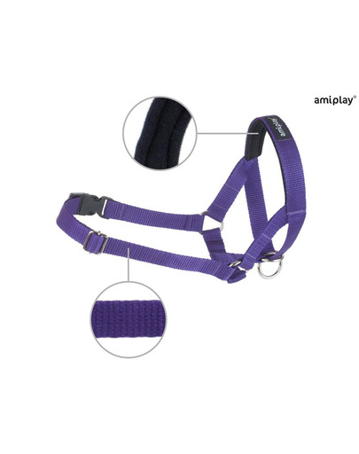 AMIPLAY Halter nylon n4 labrador  fioletowy