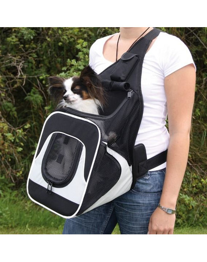 TRIXIE Taška na nosenie psa, predná čierno-šedá