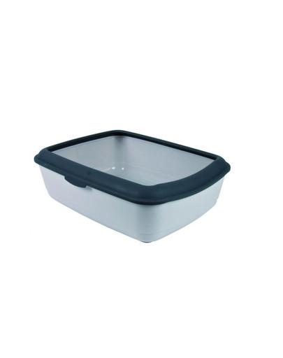 TRIXIE Toaleta pre mačky classic s rámom 37 x 15 x 47 Cm. svetlošedá / tmavošedá