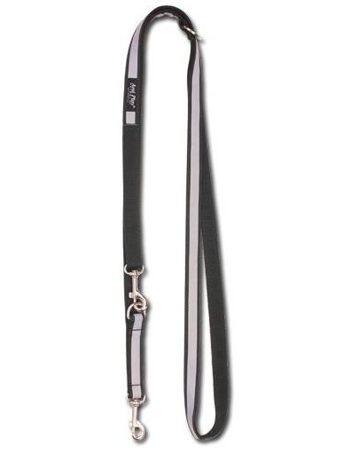 AMIPLAY Smycz nxor 100 - 200 cm / 2 cm czarna + odblask
