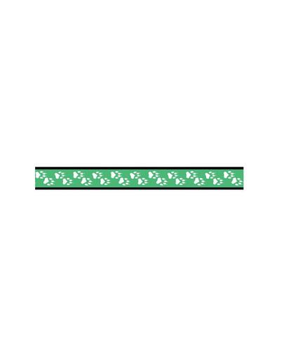 AMIPLAY Smycz nxr 100 - 200 cm /2 cm łapki na zielonym tle