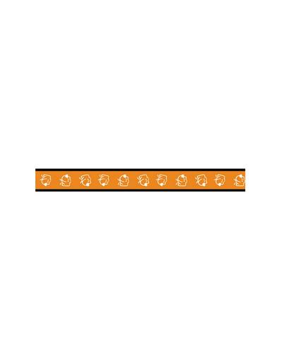 AMIPLAY Smycz nxr 100 - 200 cm / 2 cm piesek na pomarańczowym tle