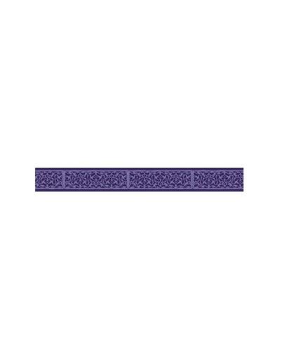 AMIPLAY Smycz nxr 100 - 200 cm / 2 cm fioletowe wzorki