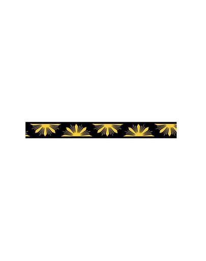 AMIPLAY Smycz nxr 100 - 200 cm / 2 cm żółte kwiaty