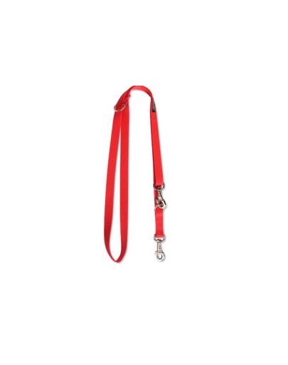AMIPLAY Smycz nr 100 - 200 cm / 2.5 cm czerwona