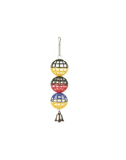 TRIXIE 3 Guľa so zvončekom 4.5 cm