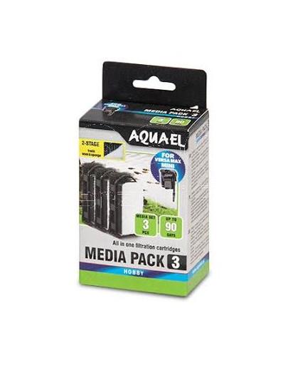 AQUAEL 3ks Hubky do filtra Mini Standard Media