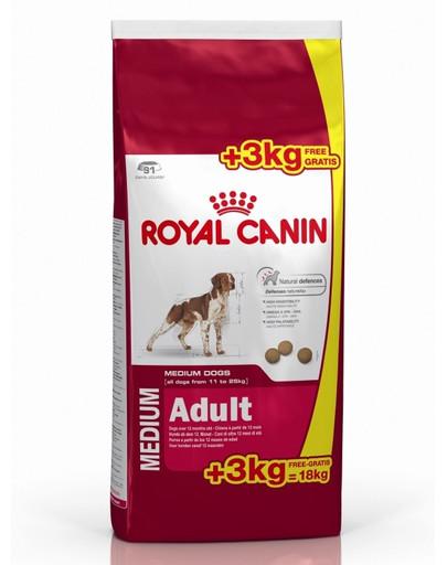 ROYAL CANIN Medium adult 15+3 kggratis