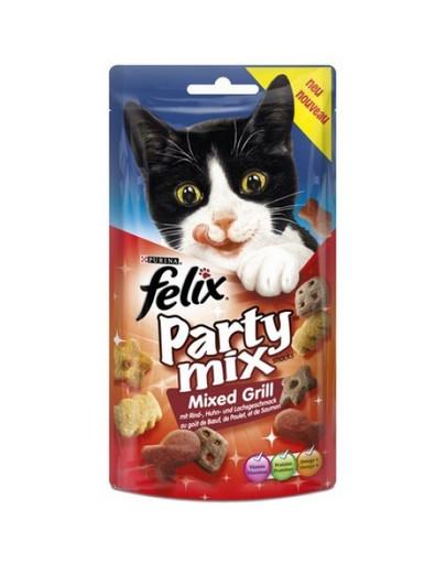 FELIX Party Mix Mixed Grill s príchuťou hovädzieho, kuracieho a lososa