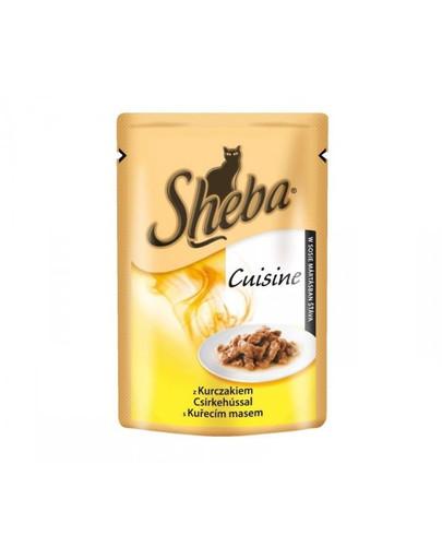 SHEBA Cusin kapsička pre mačky s kuracím mäsom 85g