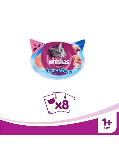 WHISKAS Temptations losos 60 g x8