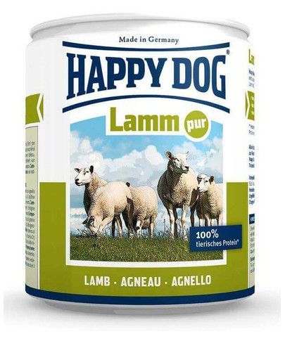 HAPPY DOG Konzerva pre psa - jahňacie (čisté jahňacie) 400g