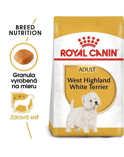 ROYAL CANIN Westie Adult 500g granule pre dospelého westhinghlandského bieleho teriéra