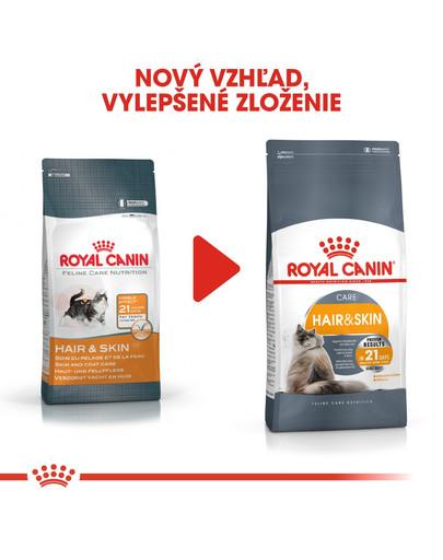 ROYAL CANIN Hair And Skin Care 400g granule pre mačky pre zdravú kožu a srsť