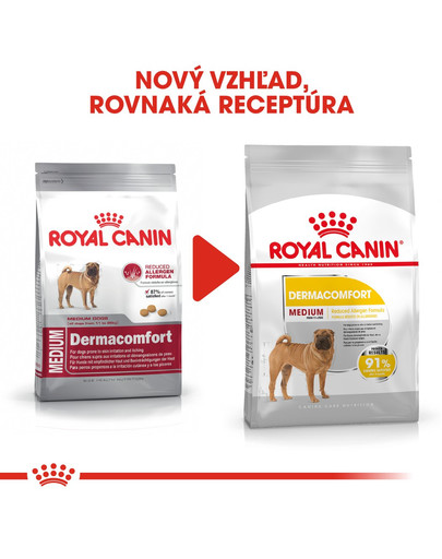 ROYAL CANIN Medium Dermacomfort 10 kg granule pre stredné psy s problémami s kožou a srsťou