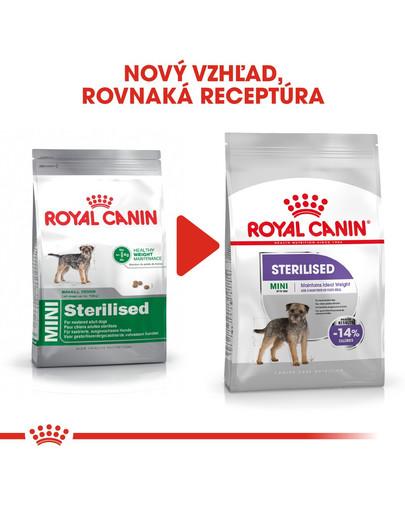 ROYAL CANIN Mini Sterilised 8kg granule pre kastrované malé psy