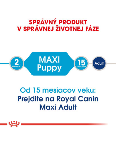ROYAL CANIN Maxi Puppy 15kg granule pre veľké šteňatá
