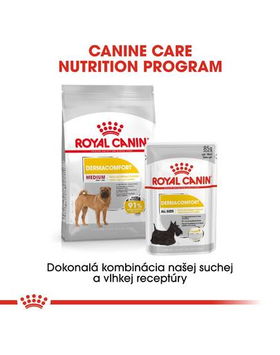 ROYAL CANIN Medium Dermacomfort 3 kg granule pre stredné psy s problémami s kožou a srsťou