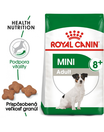 ROYAL CANIN Mini Adult 8+ 2kg granuly pre dospelé starnúce psy