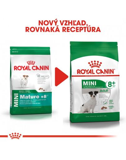ROYAL CANIN Mini Adult 8+ 800g granuly pre dospelé starnúce psy