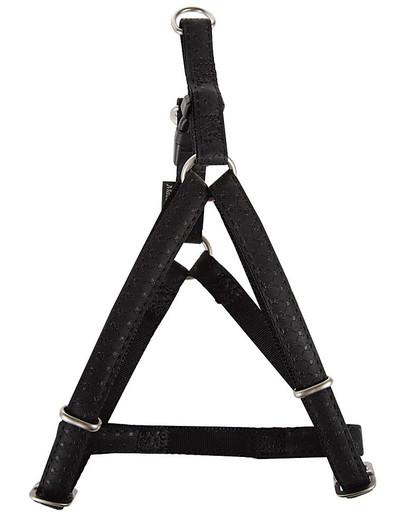 ZOLUX Postroj pre psov regulovateľný mac leather 25 mm čierny