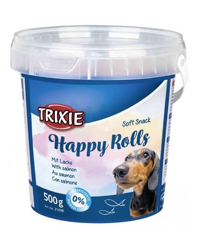 TRIXIE Soft snack Happy Rolls tyčinky s lososom 500 g