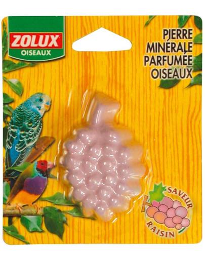 ZOLUX Minerálny blok pre exotické vtáctvo s príchuťou hrozna 110x25x125 mm