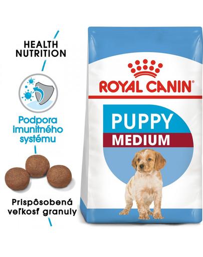ROYAL CANIN Medium puppy 15 kg + 3 kg ZDARMA