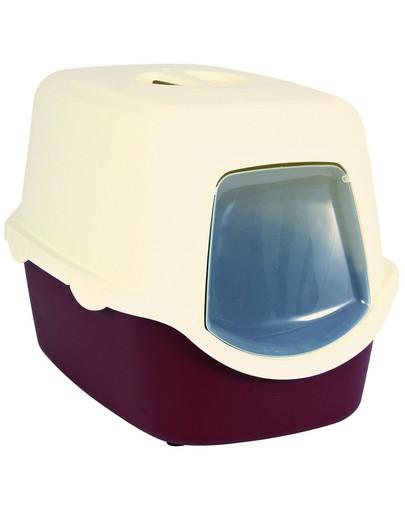 TWC WC pre mačku VICO 40x40x56 TR červená/biela